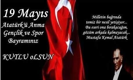 19 Mayıs Atatürk'ü Anma Gençlik ve Spor Bayramı Kartları Resimleri