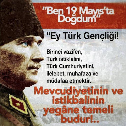 19 Mayıs Atatürk'ü Anma Gençlik ve Spor Bayramı Sözleri ve Mesajları