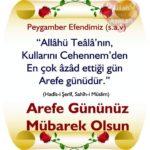 Arefe Günü Kutlama Mesajları ve Sözleri