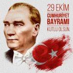 Resimli 29 Ekim Cumhuriyet Bayramı Kutlama Mesajları ve Sözleri